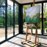 Sue Rapley Artist The Serenity Collection artwork in situ studio