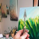 Sue Rapley Artist The Serenity Collection artwork in progress