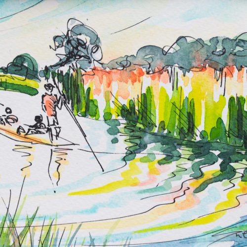 Sue Rapley Artist The Gift Collection Late Summer Punting